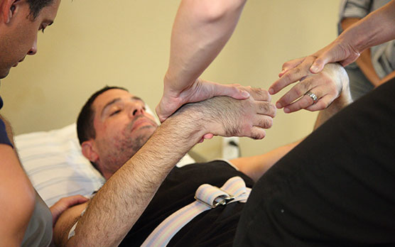 Neurological Rehab patient Receiving therapy treatment