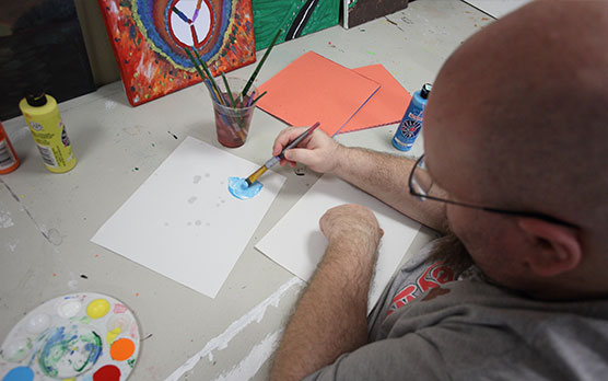 Neurological Disorder rehabilitation patient coloring in therapy